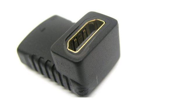 【生活家購物網】HDMI 90度直角 HDMI母轉HDMI母 轉接頭 HDMI轉接頭 數位影像連接 電腦 主機 螢幕 投影機
