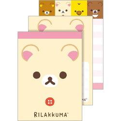 【真愛日本】18022400020 日製奶熊新版小便條-大臉米 san-x 拉拉熊 奶熊 懶妹 便條紙 便條本