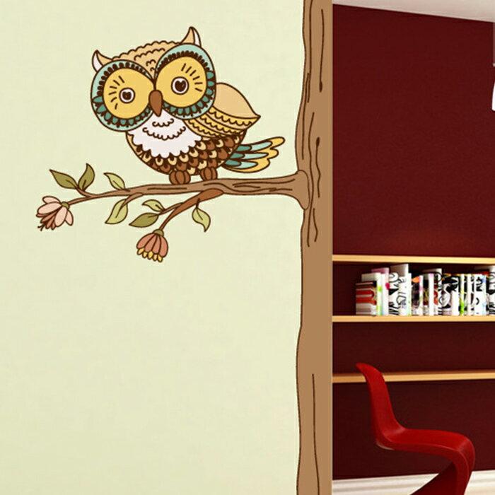 壁貼 貓頭鷹裝飾牆貼 居家裝飾牆壁貼紙【YV6794】快樂生活網