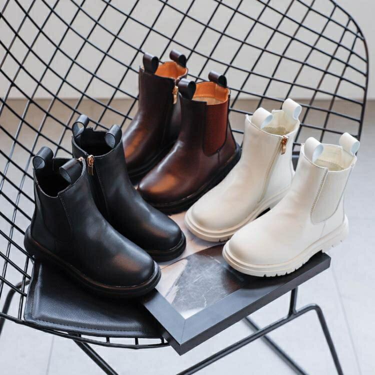 兒童靴子 兒童馬丁靴秋季新款機車靴女童短靴防滑騎士靴潮
