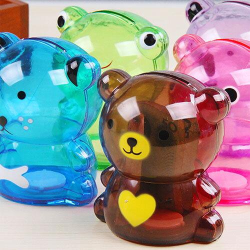 小號透明卡通動物存錢筒 創意儲蓄罐 可愛零錢罐 兒童禮物