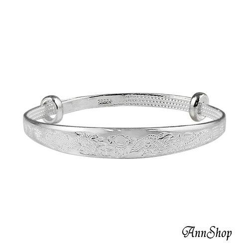 AnnShop小安的店~925純銀‧龍鳳日向伸縮小孩手環~ 款寶貝彌月禮珠寶銀飾 b919
