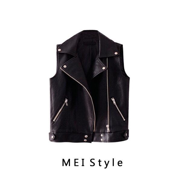 MEI Style 帥氣皮革OVERSIZE機車背心~G17SCV001~ 追 加