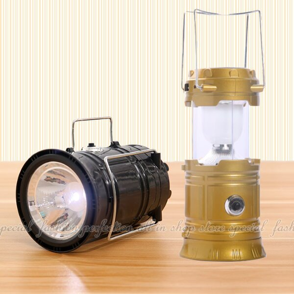 超亮LED太陽能燈+手電筒 露營燈 緊急照明應急燈 USB 太陽能探照燈【GG436】◎123便利屋◎