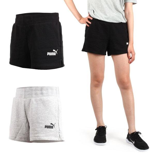 PUMA女基本系列素色短褲(慢跑路跑【04351483】≡排汗專家≡