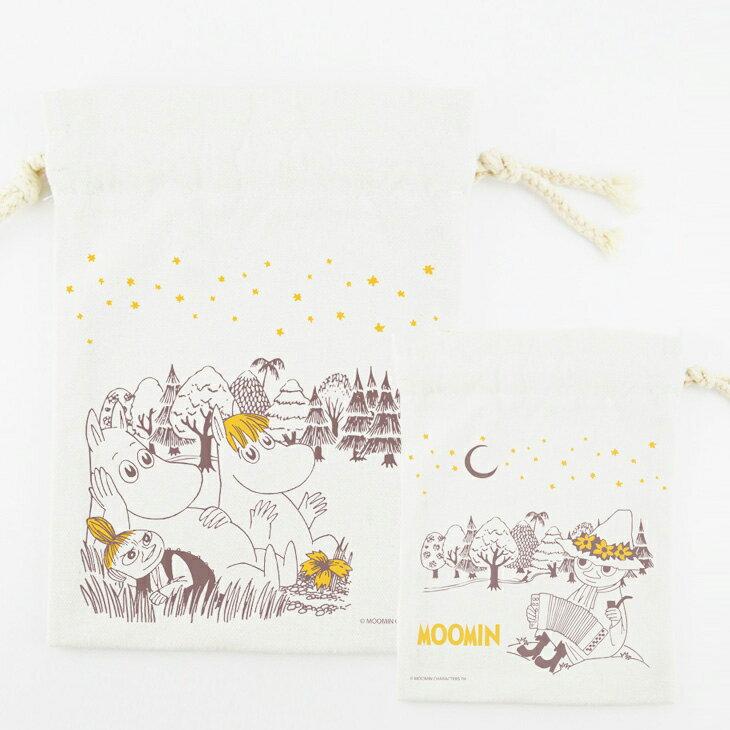 Moomin嚕嚕米授權 - 束口袋:【 仲夏之夜 】