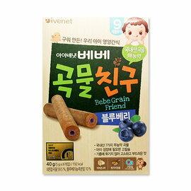 韓國 艾唯倪 IVENET 穀物棒棒 40g (藍莓)【紫貝殼】
