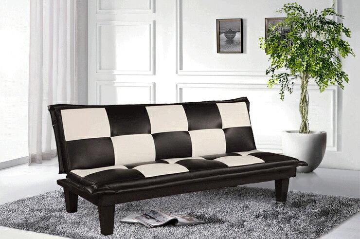 !新生活家具! 皮沙發床 黑色 白色 三人位沙發床 套房出租 美式 復古《五子棋》 非 H&D ikea 宜家