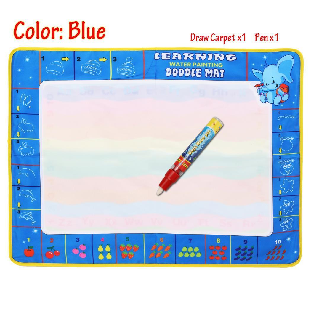 Fashion Children Kids Drawing Water Pen Painting Mat Board Boy Girl Toy 2