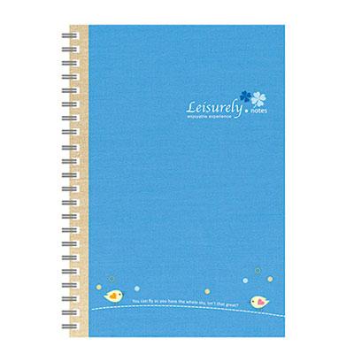 美加美 AO3013 25K悠閒生活膠圈筆記-藍 3本 /包