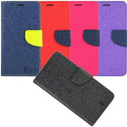 拼接雙色款 SHARP 夏普 M1 磁扣側掀(立架式)皮套