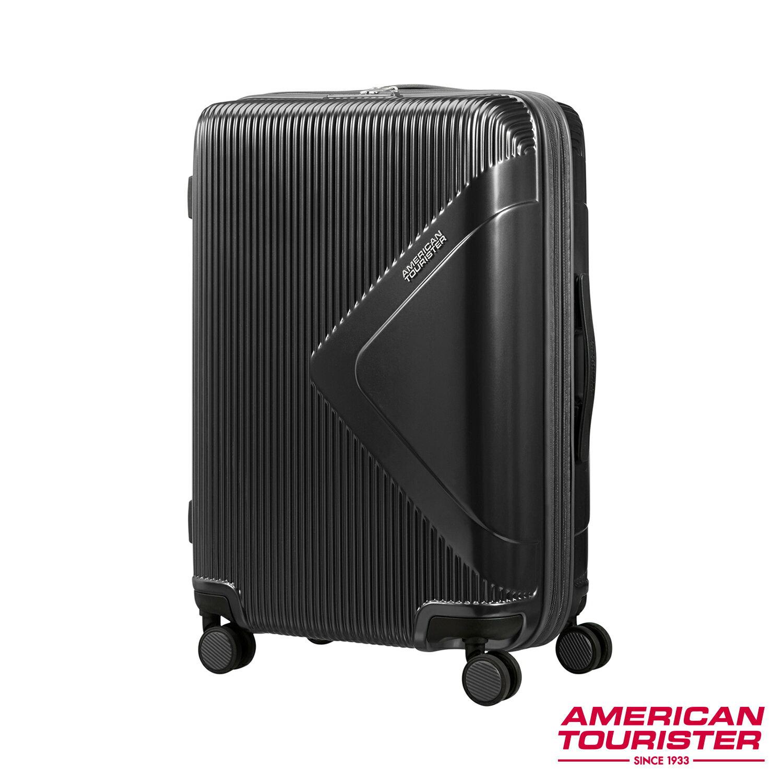 【福利品】AT美國旅行者 25吋Modern Dream都會光澤防刮耐磨硬殼TSA行李箱(碳黑)