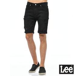 Lee 牛仔短褲-男款-黑