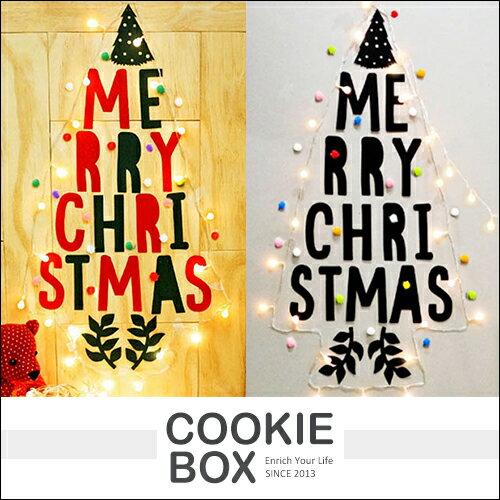 聖誕節LED燈飾壁貼裝飾包櫥窗貼壁紙貼貼紙親子紅色黑色裝潢佈置牆貼禮物*餅乾盒子*