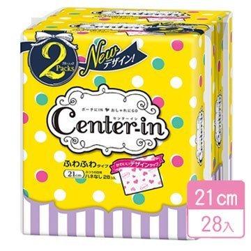 日本【Center-in】愛心輕柔衛生棉-21cm/28入【#10】