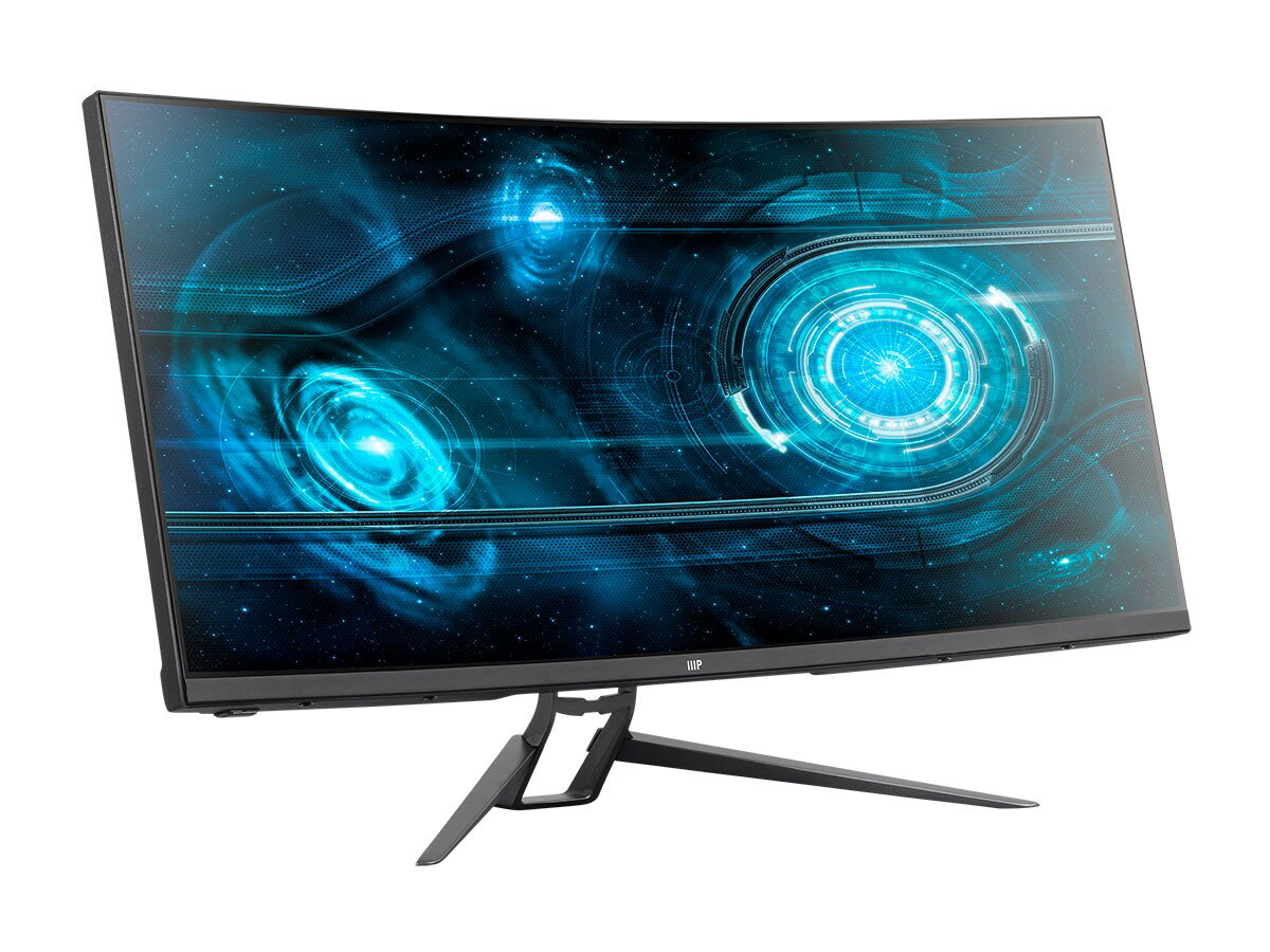 "Monoprice MP 35"" Zero-G Curved Ultrawide UWQHD Gaming Monitor FreeSync 21:9  2.0 100Hz 1"