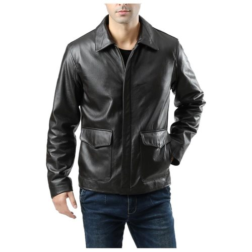 Landing Leathers Men's Voyager Indy-Style Goatskin Leather Adventurer Jacket ebce20b7717e6dd03661b841e78298cb