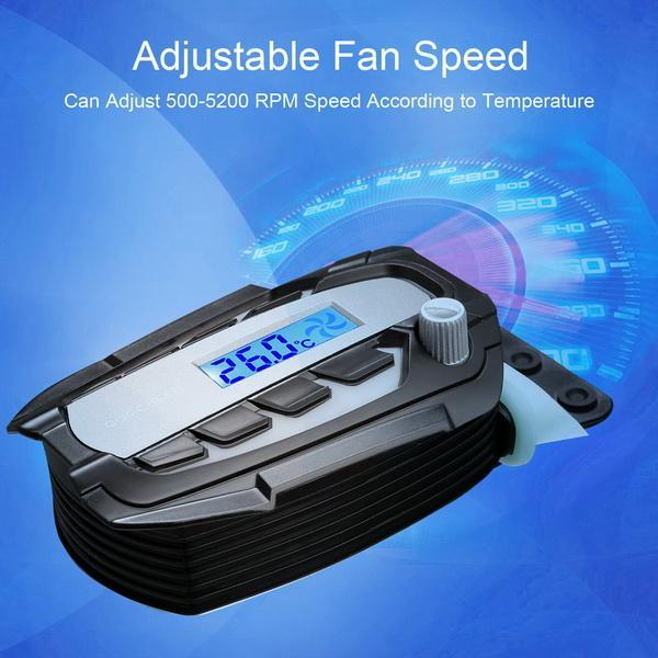Laptop Cooling Fan USB Powered with Temperature Display 2