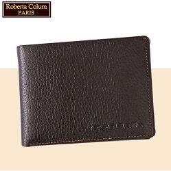 【Roberta Colum】諾貝達 男用皮夾 短夾 專櫃皮夾 進口軟牛皮短夾(咖啡色24006)【威奇包仔通】