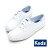 【KEDS 85折│全店免運】KEDS  經典升級皮質綁帶休閒鞋(白皮革) 白鞋│綁帶│懶人鞋│平底 0