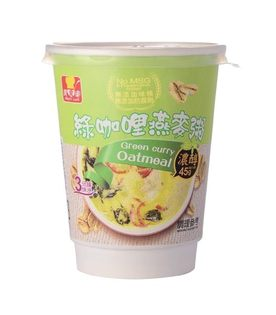 鏡感樂活市集:葵果美食樂綠咖哩燕麥粥45g杯