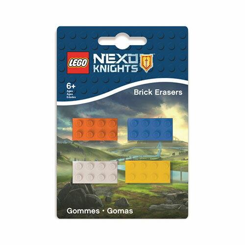 【 樂高積木 LEGO 】未來騎士團系列橡皮擦(4入)