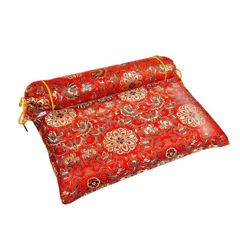 定制氣墊枕 定時可調溫氣囊艾絨枕頭 連體充氣