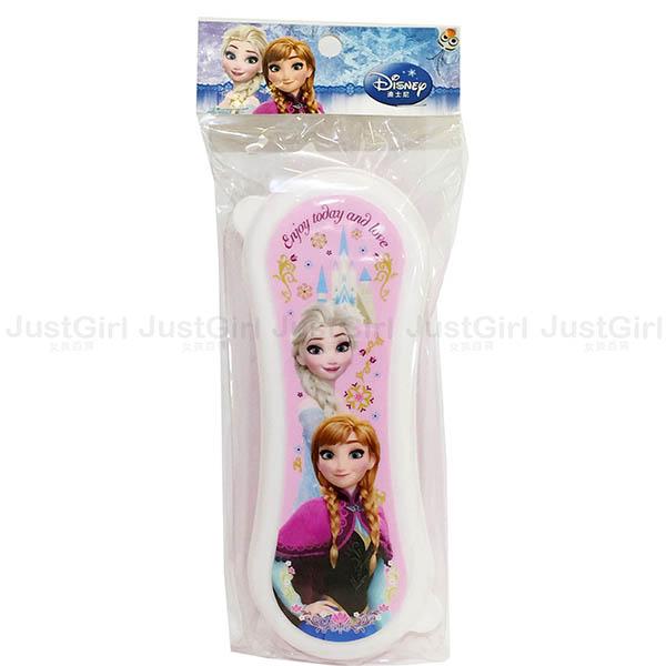 迪士尼 冰雪奇緣 艾莎安娜 餐具盒 收納盒 花生形狀 餐具 韓國製造進口 * JustGirl *