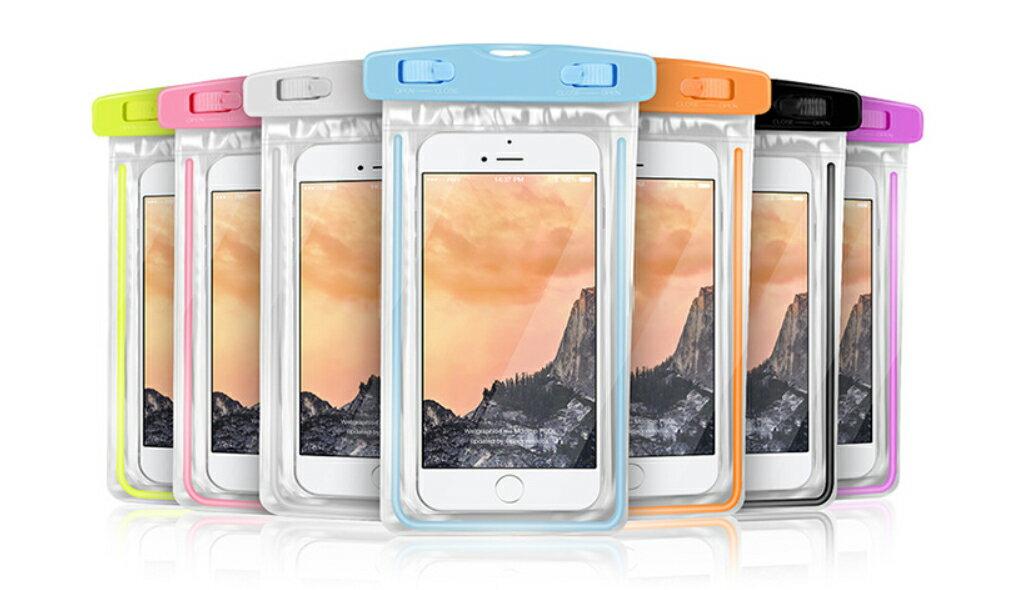 PS Mall 夜光款手機 螢光防水袋 觸摸透明PVC潛水套【J312】 0