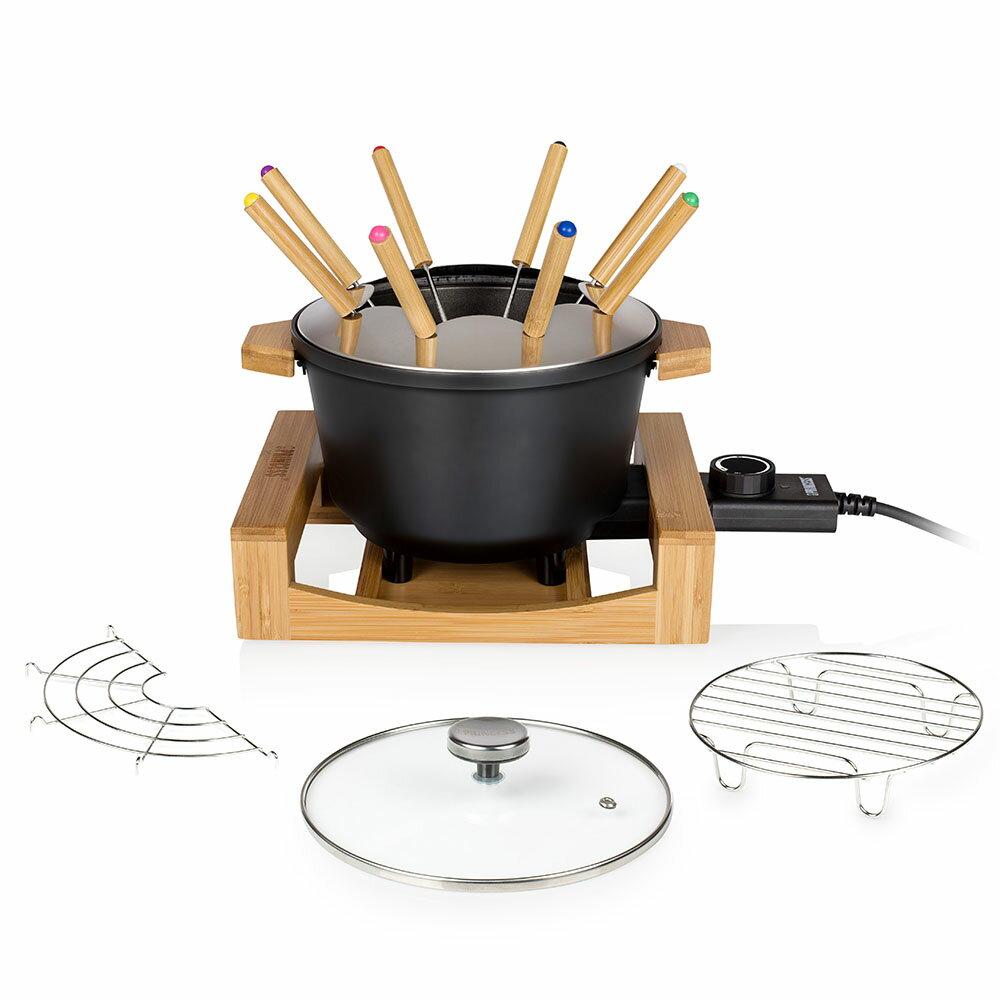 【PRINCESS】荷蘭公主 陶瓷料理鍋 / 黑 173026 (加贈油炸籃.調味罐.計時器) 7