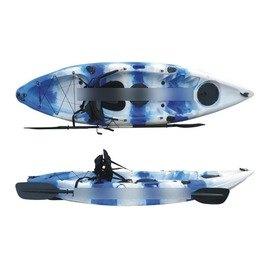 【2米79單人艇皮划艇-L002-全配-279*85*32cm-1套/組】獨木舟 釣魚船 滾塑硬艇塑膠艇 平臺舟 海洋舟(艇+坐墊+槳+衣,需預定+海運)-7682035