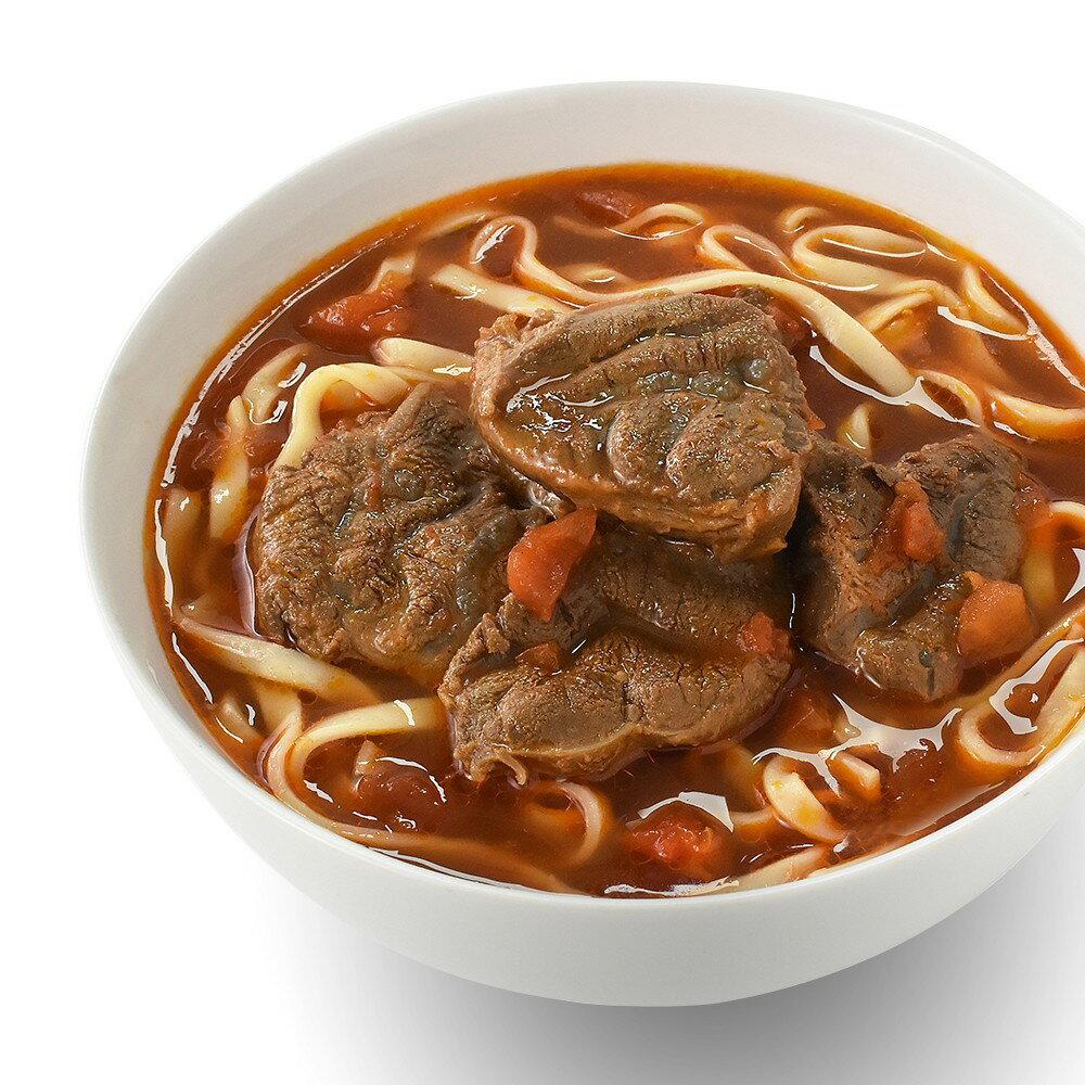 【KKLife-紅龍】番茄腱心牛肉麵 (牛肉湯600gx2包-麵220gx2包)