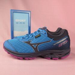 【iSport愛運動】Mizuno WAVE RIDER GTX 防水 慢跑鞋 公司貨 J1GD187909女款 藍x紫