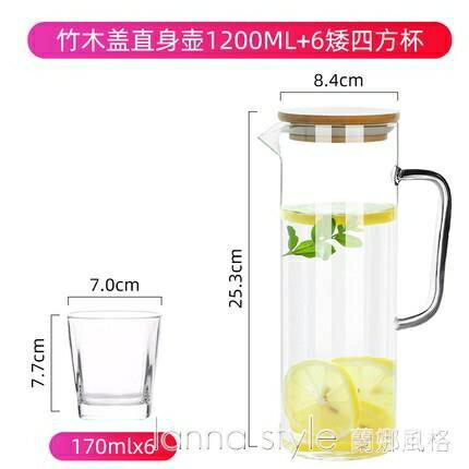 透明玻璃杯耐熱高溫防爆家用大容量水瓶