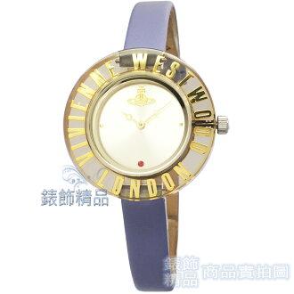 【錶飾精品】Vivienne Westwood 英倫時尚腕錶 星球 壓克力透明錶框 紫色細皮帶VV032PP原廠正品 禮物