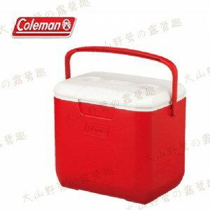 【露營趣】中和安坑 Coleman CM-27862 28L Excursion 美利紅冰箱 手提冰桶 露營冰桶 行動冰箱 野餐籃