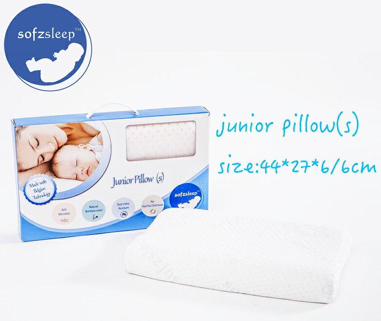 【加贈KUKU鴨小夜燈】新加坡【Sofzsleep】幼兒乳膠枕 Junior Pillow 1