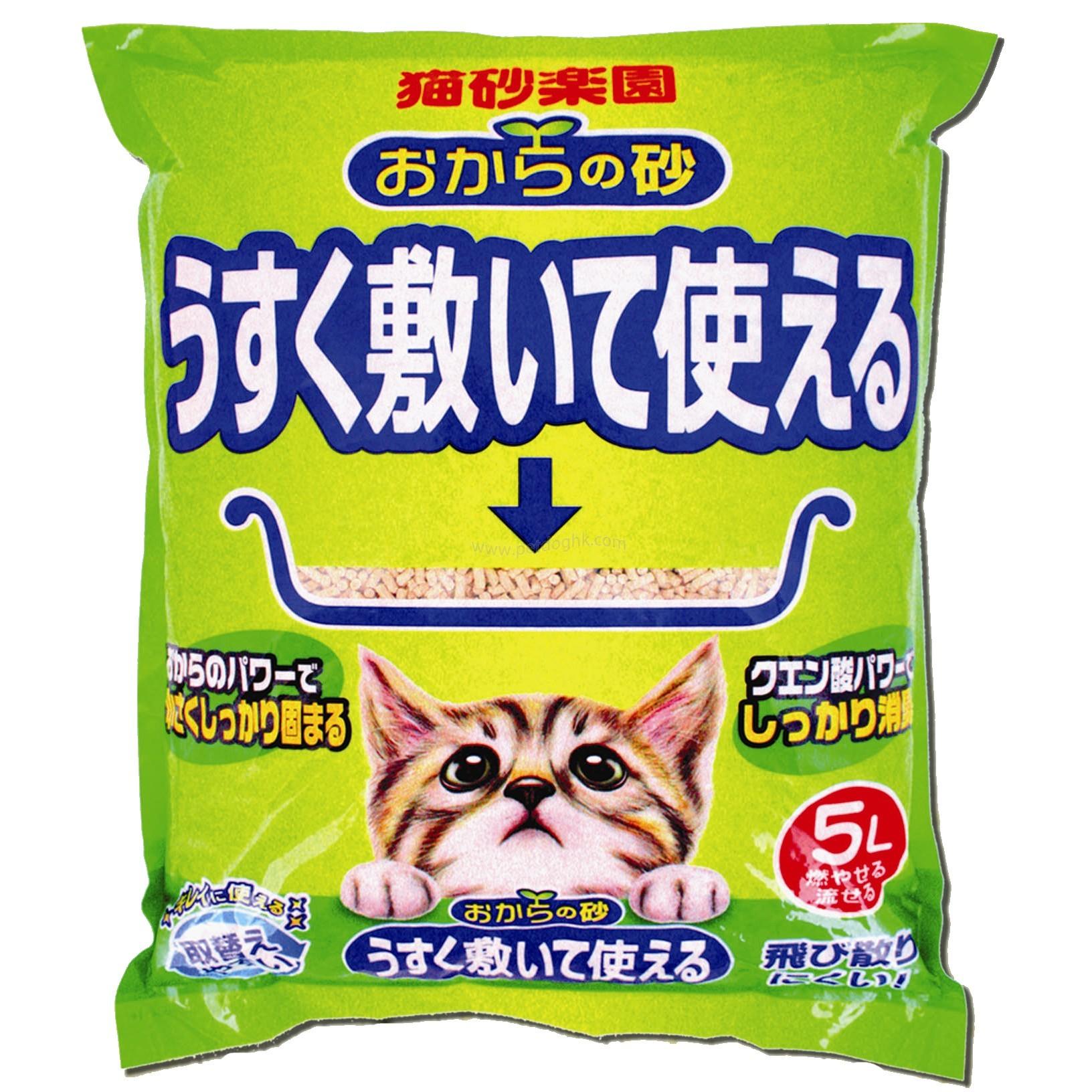 貓砂樂園 環保無塵豆腐砂5L