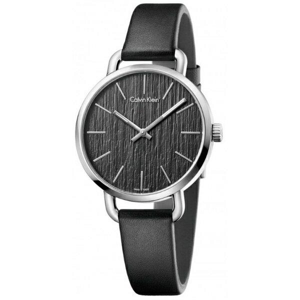 CK EVEN系列(K7B231C1)岩紋時尚腕錶/黑面36mm