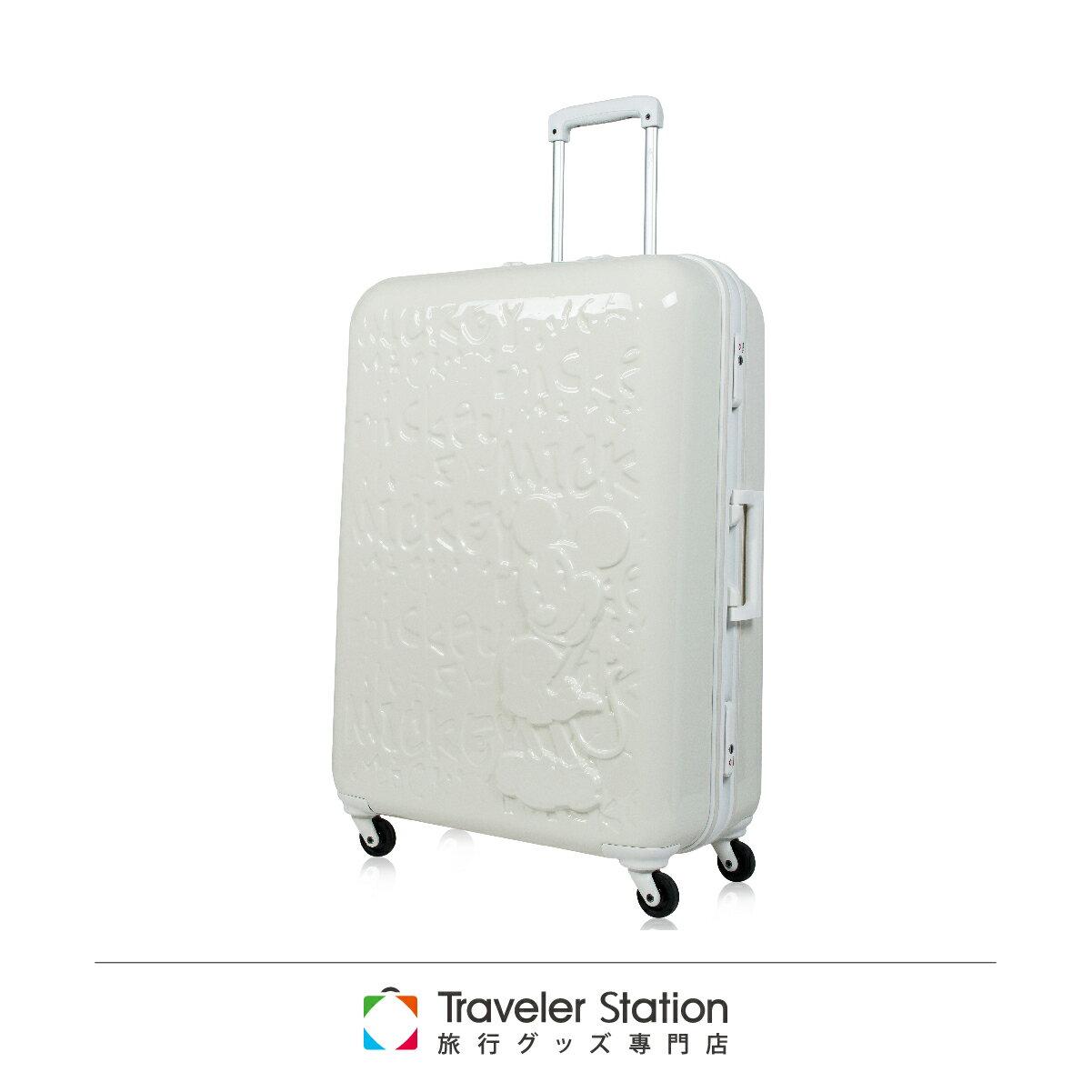 【日本 Disney】夢想米奇拉桿箱19.5吋 行李箱 / 旅行箱-象牙白