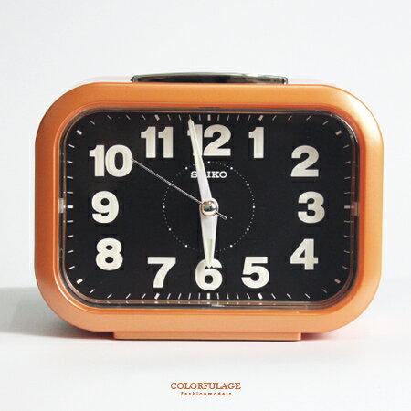 SEIKO精工鬧鐘 圓弧長方型橘色大聲公鬧鐘 滑動式秒針 夜光功能 柒彩年代【NV1754】原廠公司貨 - 限時優惠好康折扣