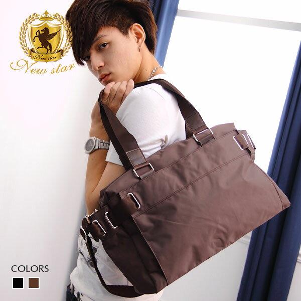 <br/><br/> 托特包 素面防水尼龍側背包肩背包旅行袋 NEW STAR BB08<br/><br/>