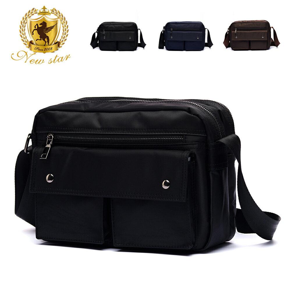 日系防水側背包包  (機能 雙口袋 雙層 斜背包 porter風 NEW STAR BL89 0
