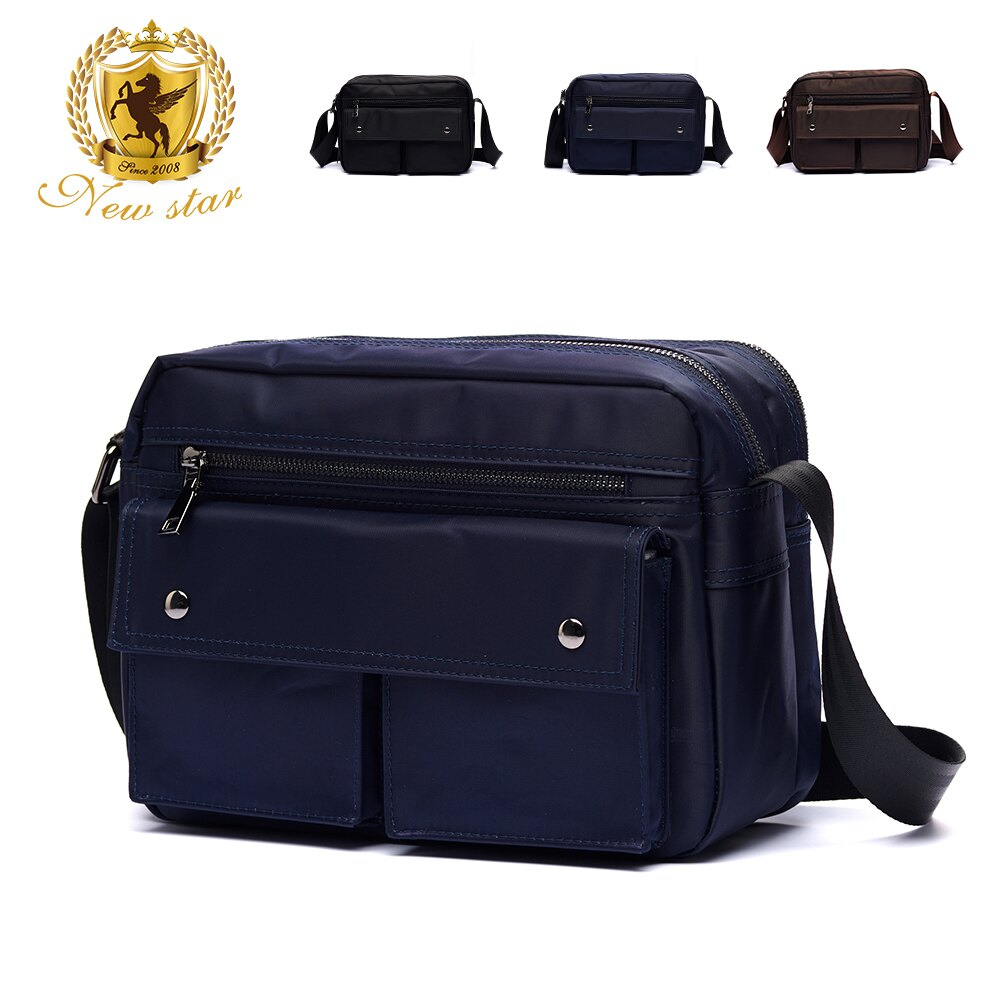 日系防水側背包包  (機能 雙口袋 雙層 斜背包 porter風 NEW STAR BL89 4