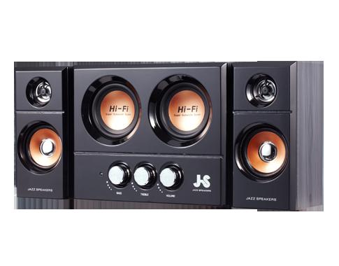 【迪特軍3C】JS JY3250 雙重低音全木質多媒體喇叭喇叭 音響 非 JY3060 JY3017 JY3052 JY3302