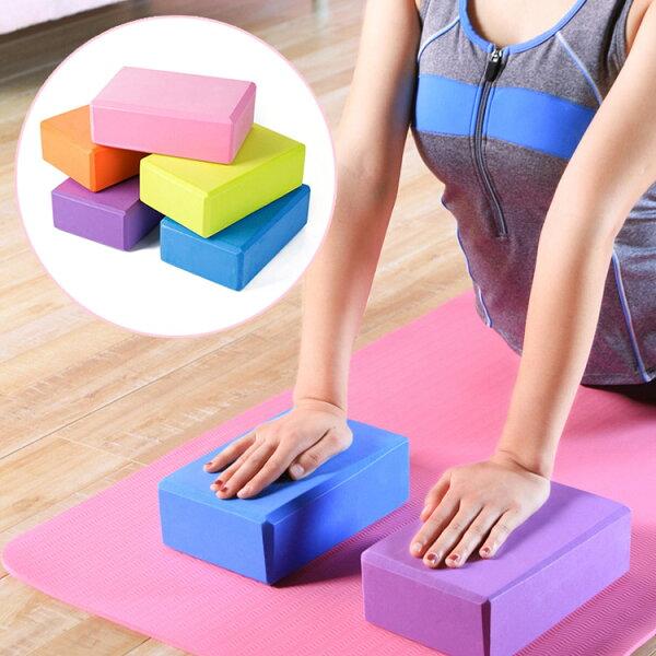 EVA健身瑜珈輔助磚瑜珈磚(不挑色)JH4514