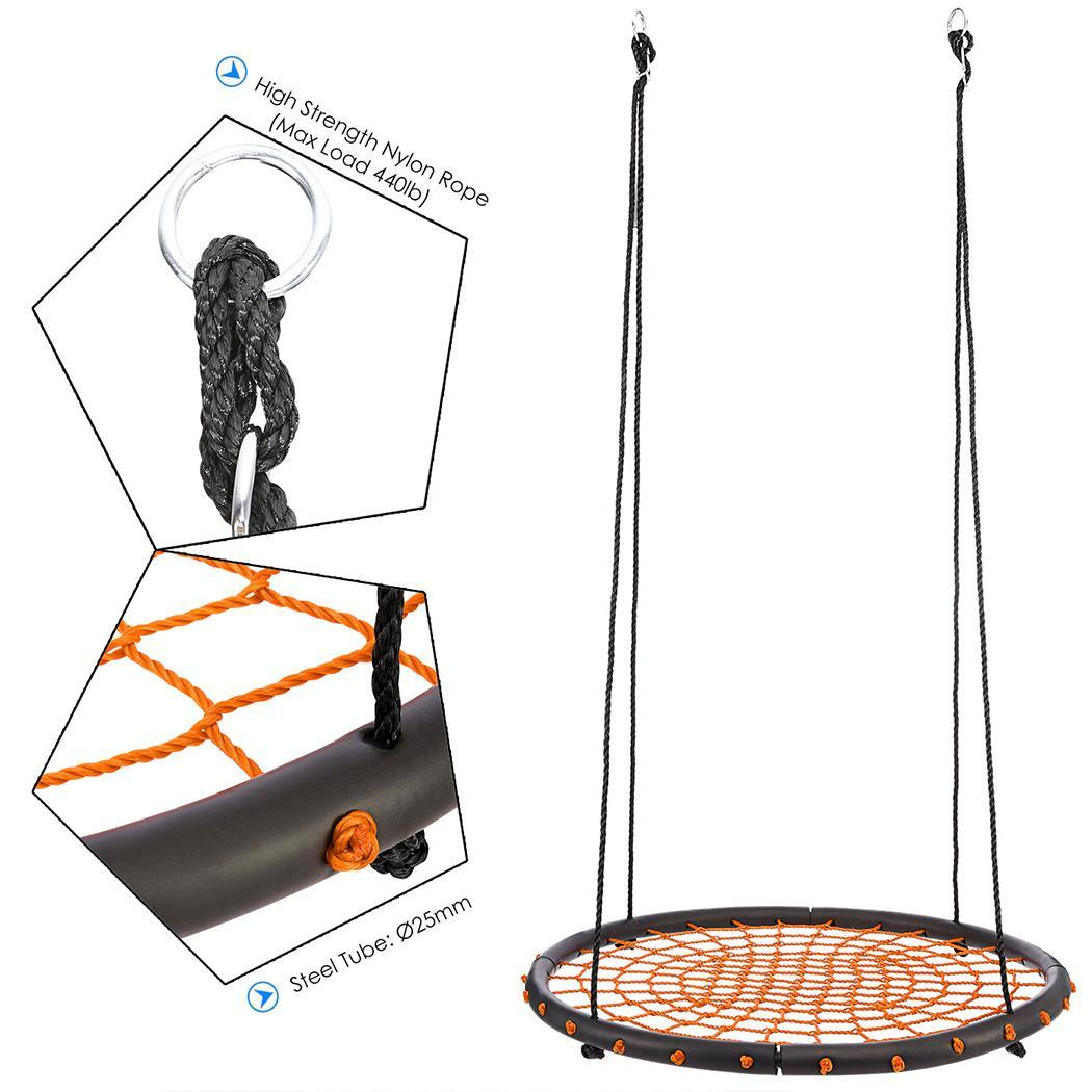 Outdoor Durability Hanging Chair Large Hammock Chair Round Swing Kit 0