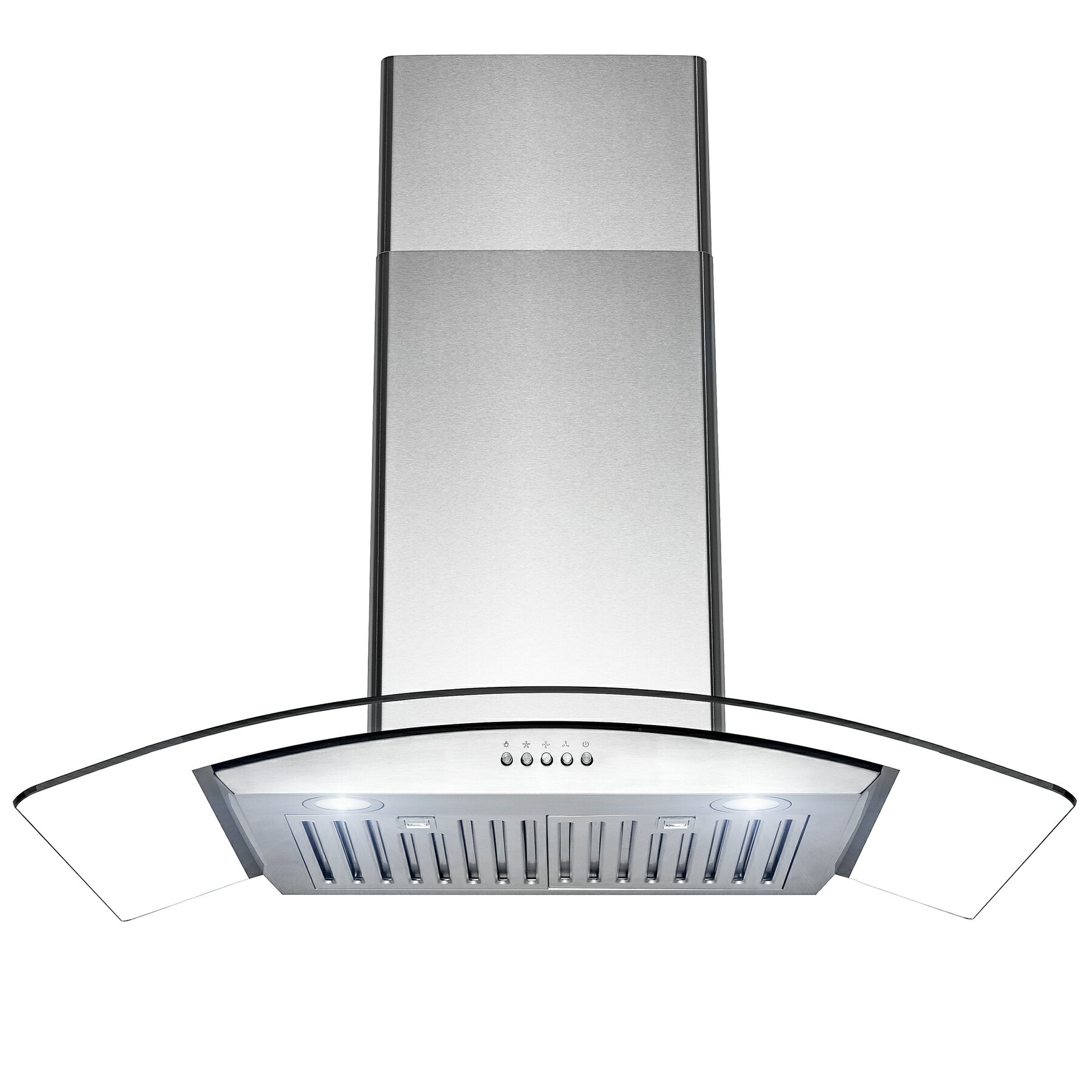 "AKDY 36"" Wall Mount Stainless Steel Tempered Glass Push Panel Kitchen Range Hood Cooking Fan 0"