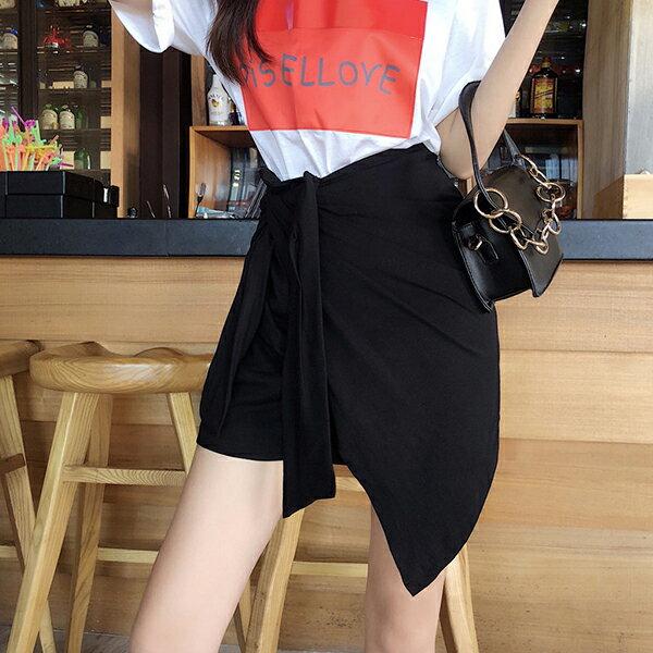 PS Mall 小心機綁帶高腰半身裙【T573】 1
