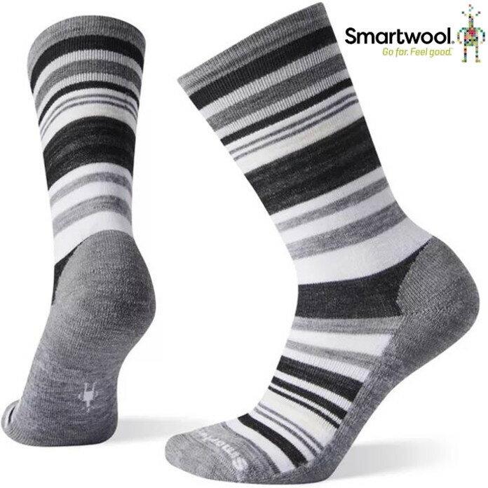 Smartwool 羊毛襪/排汗襪/美麗諾羊毛 女款 木星條紋中長襪 SW0SW599 E15月光灰
